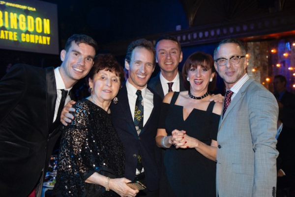 Jeffrey Seller, Andrew Lippa, and family