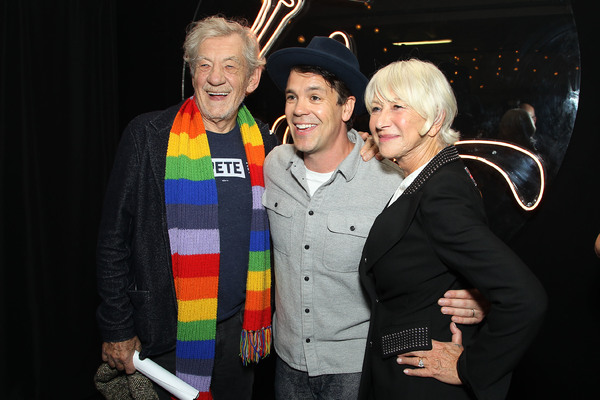 Sir Ian McKellen, Anthony Veneziale, Dame Helen Mirren. Photo