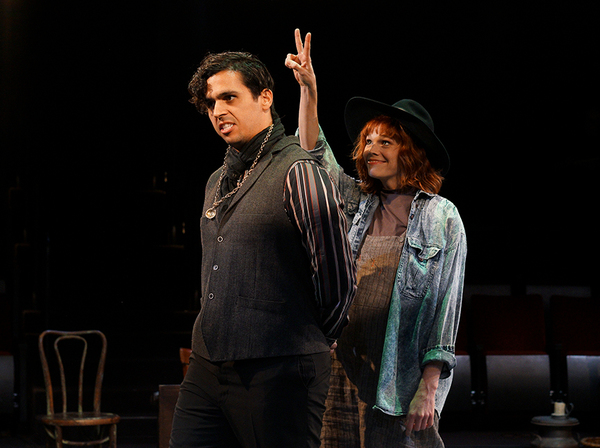 Marco Antonio Vega as Malvolio and Summer Broyhill as Feste Photo