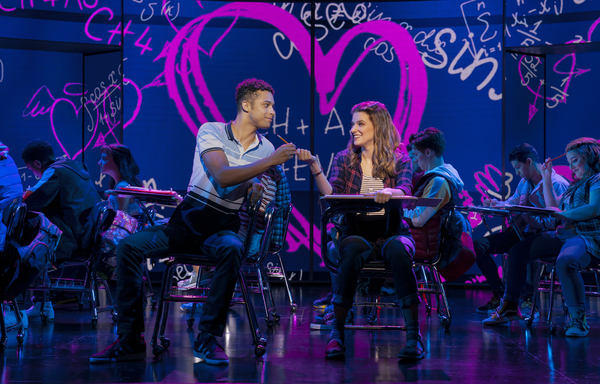 Danielle Wade (Cady Heron) and Adante Carter (Aaron Samuels) in the National Touring  Photo