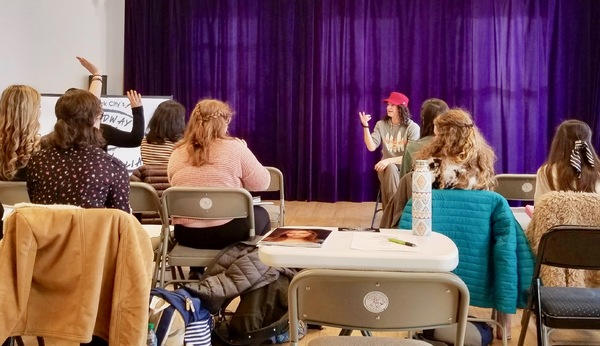 Photo Flash: Jackie Burns Inspires Students at One Day Master Class with Broadway Artists Alliance
