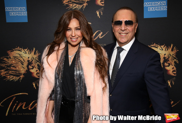 Thalia and Tommy Mottola