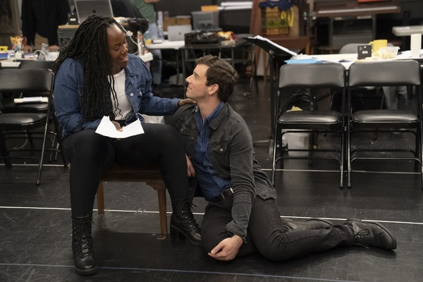 Crystal Lucas-Perry and Michael Urie