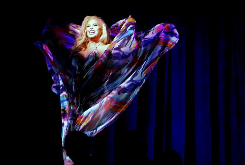 BWW Photo Flash:  Candis Cayne and Lina Bradford in LIFE BECOMES HER at The Laurie Beechman Theatre