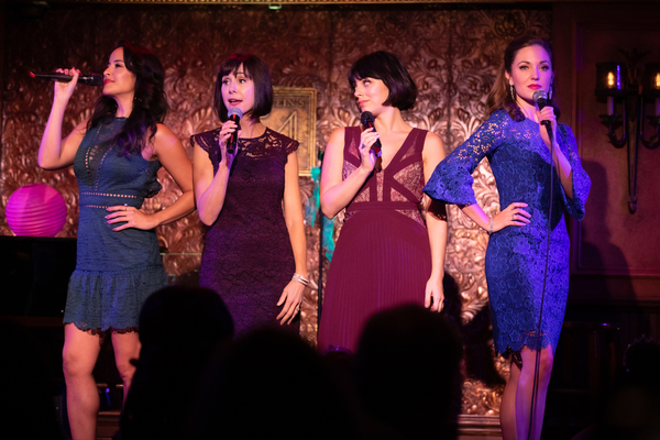 Courtney Reed, Susan Egan, Krysta Rodriguez, and Laura Osnes