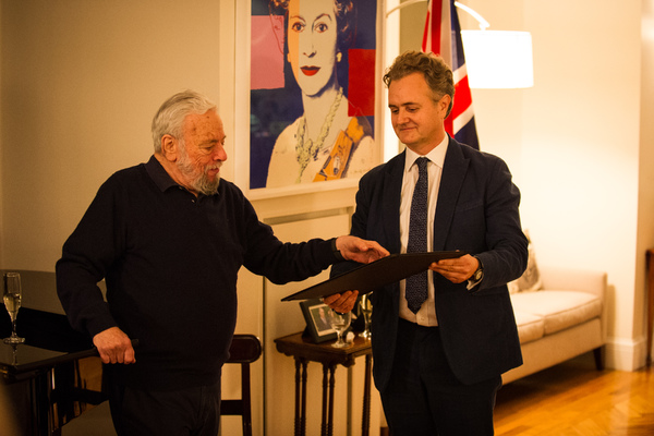Stephen Sondheim and Director of RADA Edward Kemp
