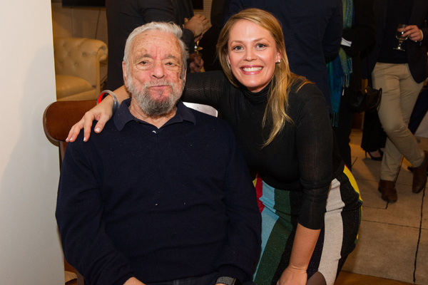 Stephen Sondheim and Elizabeth Stanley  Photo