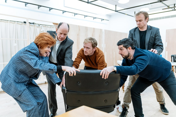 Photo Flash: Inside Rehearsal For RAVENS: SPASSKY VS. FISCHER at Hampstead Theatre