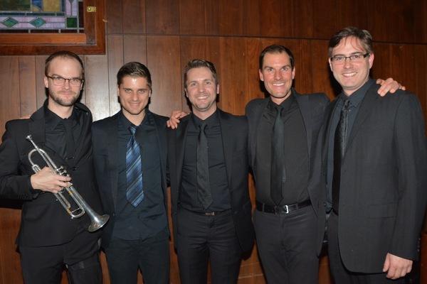 The band-Josiah Lamb, Jernej Bervar, Clint Edwards (Music Director), Sam Zerna and Jonathan Ward