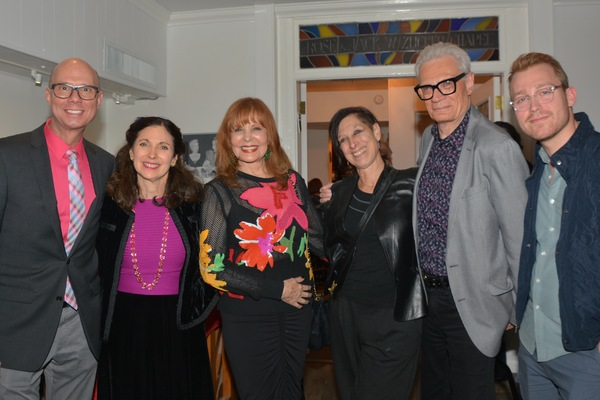 Richie Ridge, Rabbi Jill Hausman, Carol Ostrow, Joan Finkelstein, Preston Ridge and D Photo