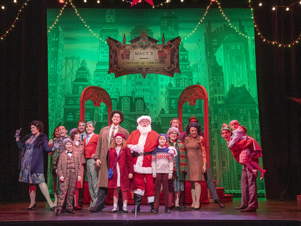 Tony Triano as Santa Claus and Cast Photo