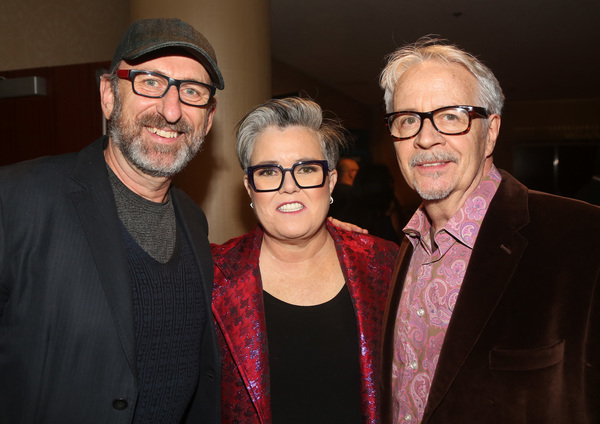 NEW YORK, NEW YORK - NOVEMBER 18: (L-R) David Cale, Rosie O'Donnell and Kevin Maloney Photo