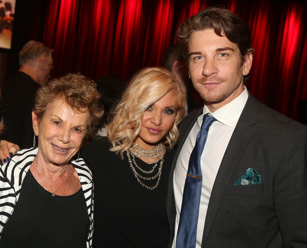 NEW YORK, NEW YORK - NOVEMBER 18: (L-R) Dena Hammerstein, Orfeh and Andy Karl pose at Photo