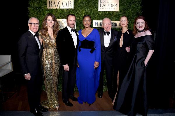 Tommy Hilfiger, Elizabeth Hurley, Tom Ford, Jennifer Hudson, Leonard A. Lauder, Carol Photo