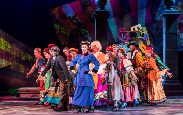James T Lane, Emilie Lynn and the cast of Disney and Cameron Mackintosh's Mary Poppins