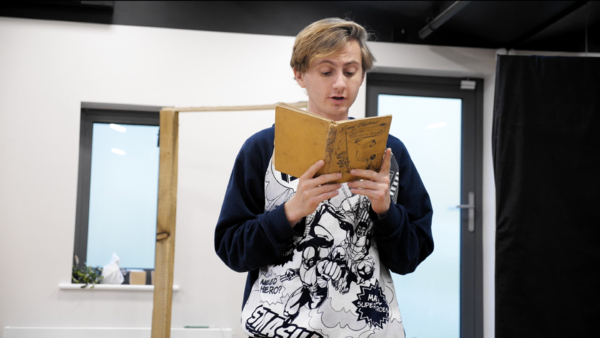 Photo Flash: First Look at Patrick Ryecart in Rehearsal for A CHRISTMAS CAROL at The Barn Theatre