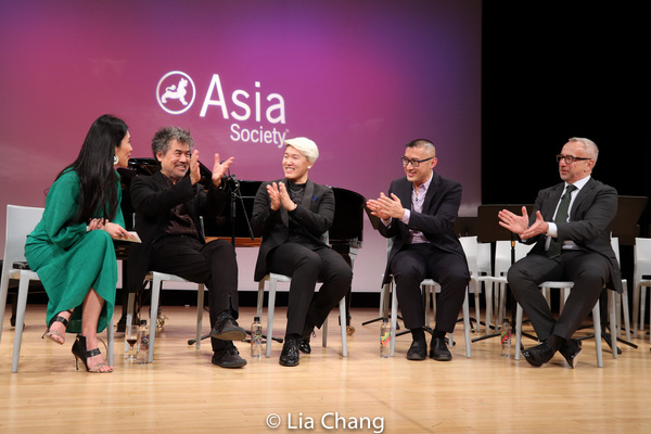 Following the working rehearsal, Agnes Hsu-Tang, PhD moderates a Q&A with (from left to right) librettist David Henry Hwang, countertenor Kangmin Justin Kim, composer Huang Ruo and stage director Jame