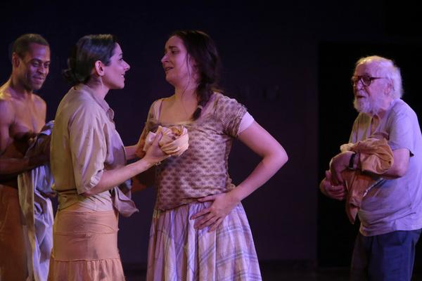 Tommie J. Moore, Lisa Birnbaum, Emily Fury Daly, George Bartenieff in Karen Malpede'' Photo