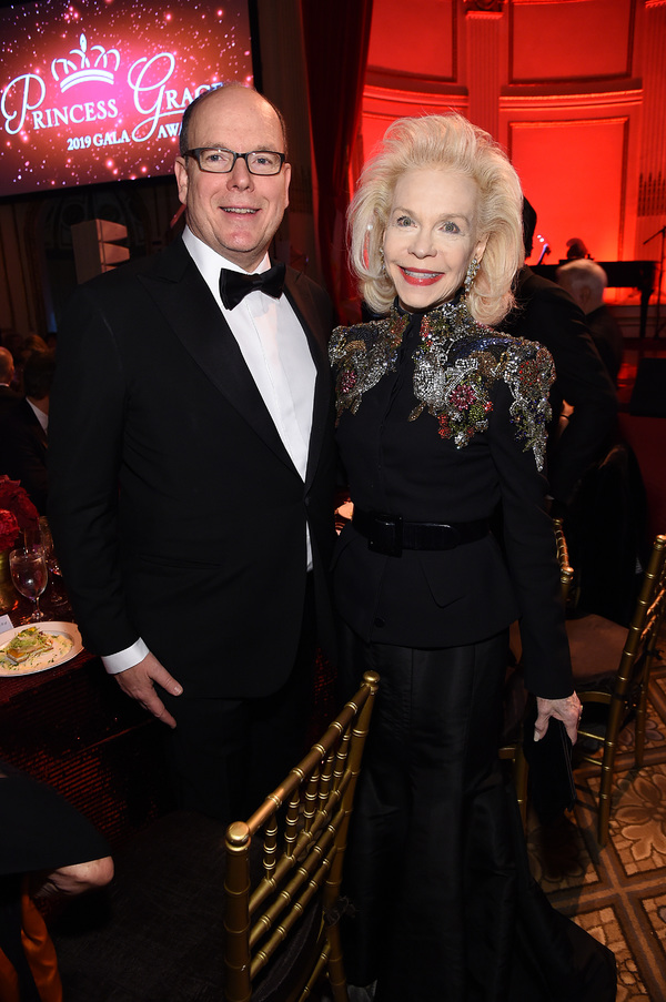 His Serene Highness Prince Albert II of Monaco and Lynn Wyatt  Photo