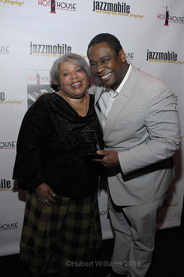 Sheila Anderson and Freddie Hendrix, winner of Best Trumpeter Photo