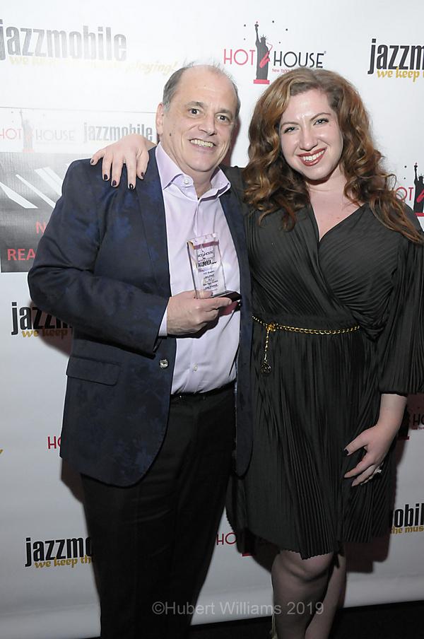 John Minnock, winner of Best Male Vocalist and Lydia Liebman Photo