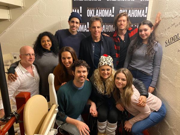 Photo Flash: OKLAHOMA! Celebrates Thanksgiving With a Potluck With Ben Stiller and His Daughter, Ella