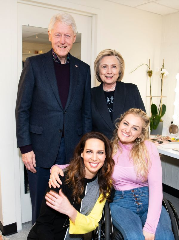Bill and Hillary Clinton, Mallory Portnoy, Ali Stroker Photo
