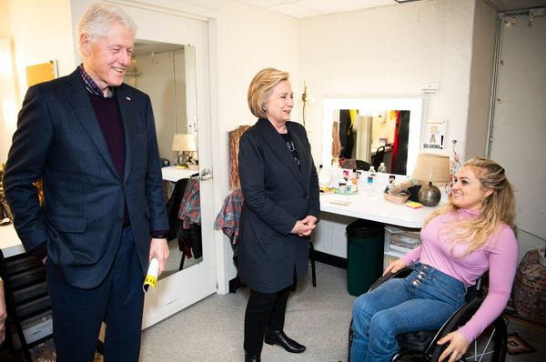 Bill Clinton, HiIlary Clinton, Ali Stroker Photo