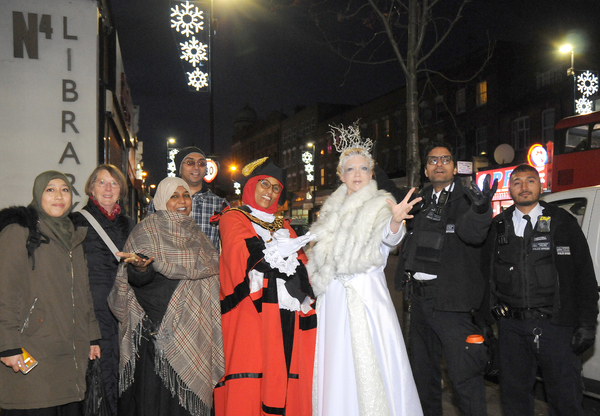 Photo Flash: The Cast of THE SNOW QUEEN Turned On Finsbury Park Festive Lights