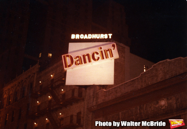 "Opening Night Marquee for the Bob Fosse Musical �""Dancin'"" at the B Photo"