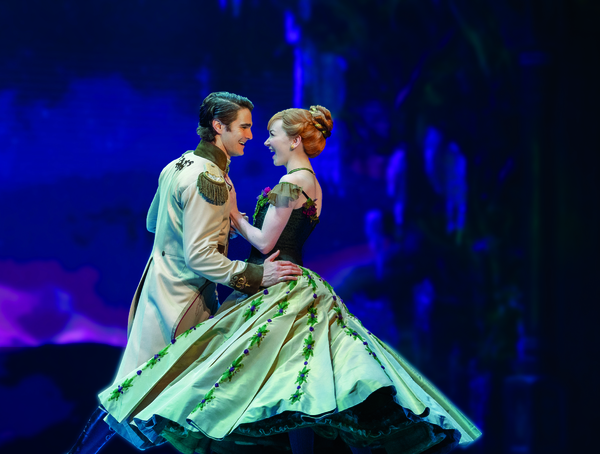 Austin Colby (Hans) and Caroline Innerbichler (Anna) in Frozen North American Tour -  Photo
