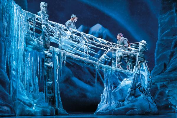 Caroline Innerbichler (Anna) and Mason Reeves (Kristoff) in Frozen North American Tou Photo