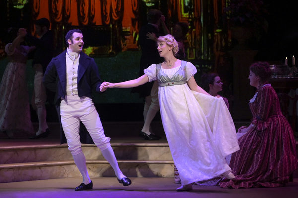 Mr. Bingley (Travis Leland) and Jane (Sharon Rietkerk) Photo