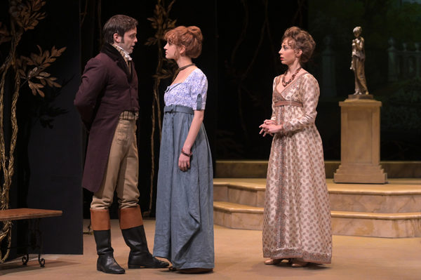 Mr. Darcy (Justin Mortelliti), Elizabeth (Mary Mattison), Caroline Bingley (Monique H Photo