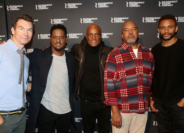 Jerry O'Connell, Blair Underwood, Director Kenny Leon, David Alan Grier and Nnamdi Asomugha
