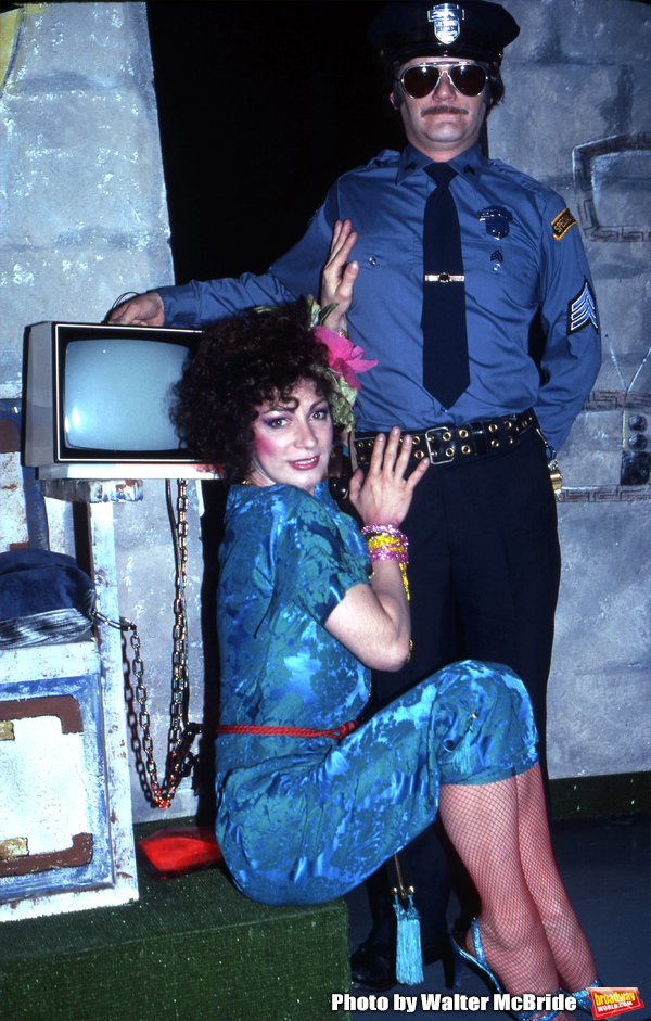 Holly Woodlawn performing in the Off Broadway Show 'THE GAME SHOW' on May 1, 1982 in  Photo