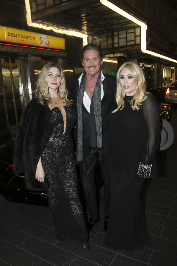 Taylor Ann Hasselhoff, David Hasselhoff (Franklin Hart Jr) and Hayley Hasselhoff Photo