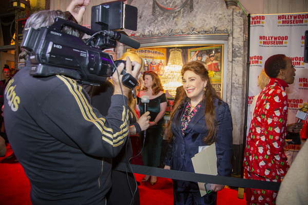 Hollywood Museum President and Founder, Donelle Dadigan, interviewed on the red carpe Photo