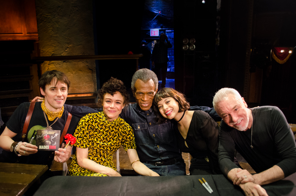 Reeve Carney, Amber Gray, André De Shields, Eva Noblezada and Patrick Page Photo