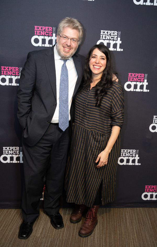 Dave Malloy (Music, Lyrics, Book, and Orchestrations) and Rachel Chavkin (Director/Co Photo