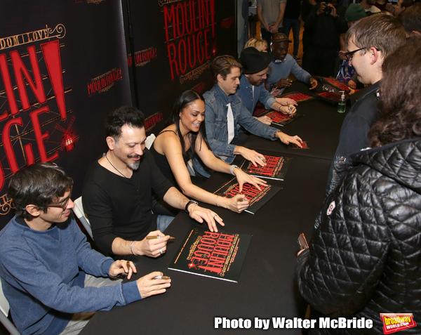 Justin Levine, Ricky Rojas, Karen Olivo, Aaron Tveit, Tam Mutu, Robyn Hurder and Sahr Photo