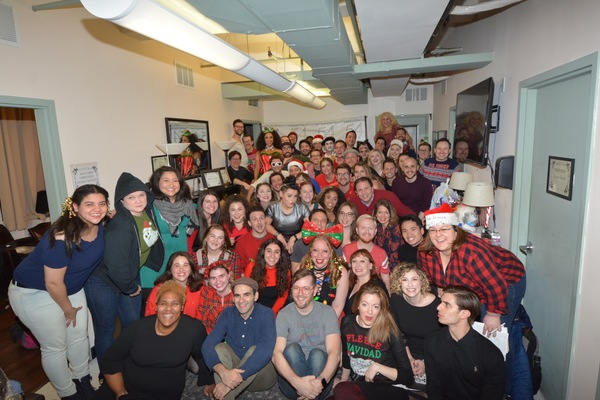 The Cast and Crew of The 12th Annual Joe Iconis Christmas Extravaganza that includes  Photo