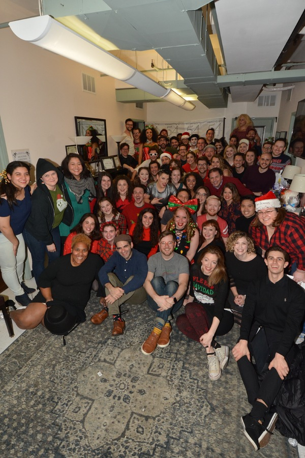 The Cast and Crew of The 12th Annual Joe Iconis Christmas Extravaganza that includes Joe Iconis, John Simpkins, Jennifer Ashley Tepper, Emilie Battle, Ally Bonino, Jack Bowman, Amara Brady, Chris Brick, Melanie Brook, Liz Lark Brown, Gerard Canonico, Katlyn Carlson, Harrison Chad, Ian Coulter-Buford, Bill Coyne, Max Crumm, Katrina Rose Dideriksen, Alex Dorf, Lauren Echausse, Seth Eliser, Sydney Farley, Vince Fazzolari, Amanda Flynn, Coby Getzug, Danielle Gimbal, Ian Kagey, Dennis Michael Keefe, Jessica Kent, Rachel Lee, Lorinda Lisitza, Tuan Malinowski, Lauren Marcus, Matthew McCollum, Kelly McIntyre, Eric William Morris, Kevin Michael Murphy, Shakina Nayfack, James Penca, Josh Plotner, Rob Rokicki, Will Roland, Charlie Rosen, Mike Rosengarten, MiMi Scardulla, Brooke Shapiro, Lena Skeele, Emerson Mae Smith, Philip Jackson Smith, Jordan Stanley, Cori Stolbun, Brent Stranathan, Rachel Sussman, Vinnie Urdea, Tatiana Wechsler, Jared Weiss, and Jason SweetTooth Williams. Christine O'Grady and Jennifer Werner choreograph, with costumes by Michelle Eden Humphrey and Brendan McCann. Max Friedman is assistant director, Alexa Spiegel is assistant producer, E. Sara Barnes is stage manager, and Lady del Castillo is assistant stage manager and The Joe Iconis Carolers that includes-Cori Stolbun, Alex Dorf, Amara Brady and Tuan Malinowski