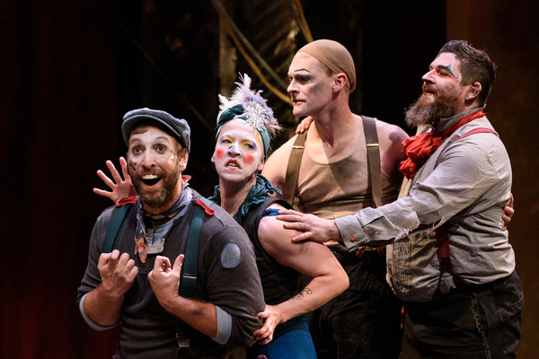 Jay Torrence as Robert Murray; Leah Urzendowski as Nellie Reed; Ryan Walters as Eddie Foy and Anthony Courser as Henry Gilfoil