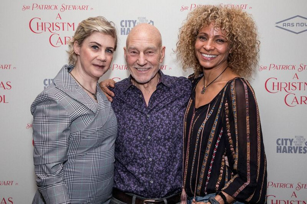 Producer Jenny Steingart, Sir Patrick Stewart and Michelle Hurd Photo
