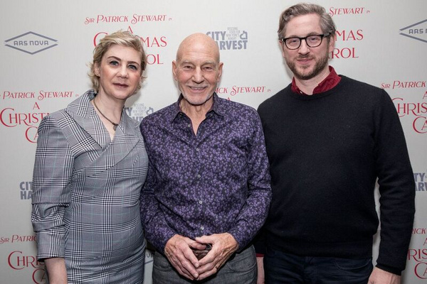 Producer Jenny Steingart, Sir Patrick Stewart and Ars Nova Artistic Director Jason Ea Photo