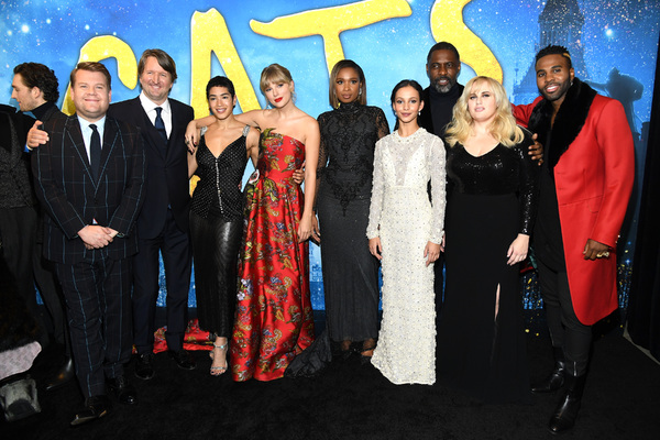 James Corden, Tom Hooper, Mette Towley, Taylor Swift, Jennifer Hudson, Francesca Hayw Photo