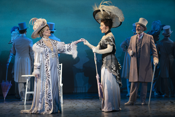Leslie Alexander as Mrs. Higgins, Shereen Ahmed as Eliza Doolittle and Kevin Pariseau as Colonel Pickering in The Lincoln Center Theater Production of Lerner & Loewe's MY FAIR LADY