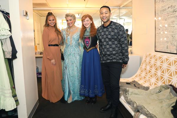 Chrissy Teigen, Caroline Bowman, Caroline Innerbichler, John Legend Photo