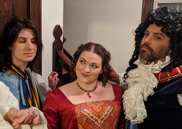 McLane Nagy, Michelle Weiser, Aphra Behn and Andy Woodmansee Photo